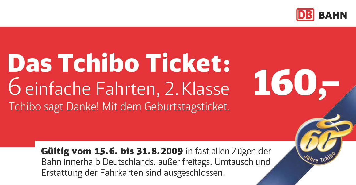 Tchibo Bahnticket